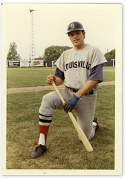 Fisk with the Louisville Colonels in 1971