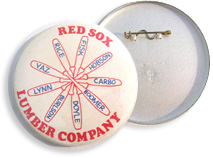 Vintage 1975 Red Sox Lumber Company Team Button